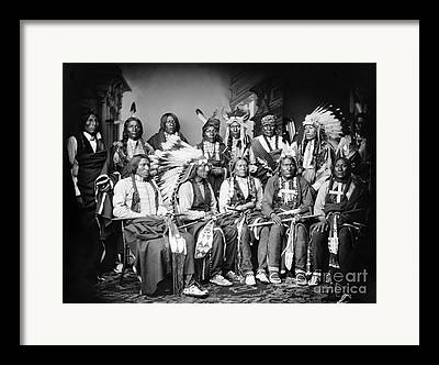 Chief Iron Tail Framed Prints