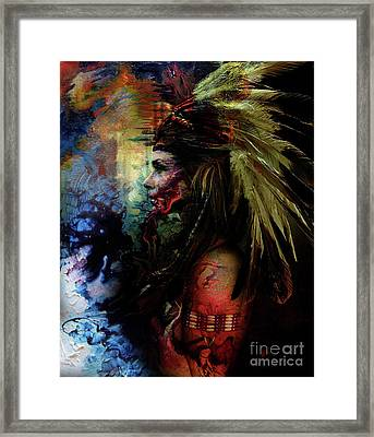 Native American Feather Framed Print