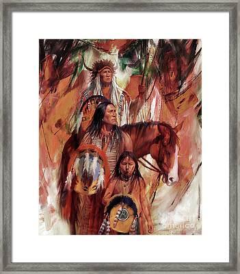 Native American Ght6 Framed Print