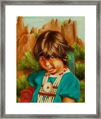Native American Girl Framed Print