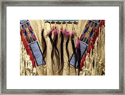 Native American Great Plains Indian Clothing Artwork 06 Framed Print