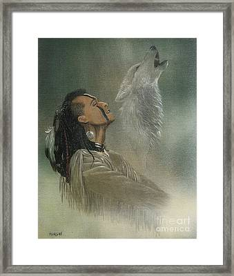 Native American Indian Framed Print by Morgan Fitzsimons