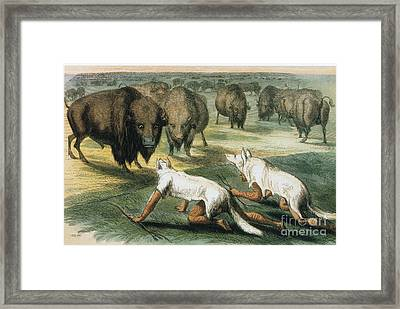 Native American Indians Camouflaged Framed Print by Photo Researchers