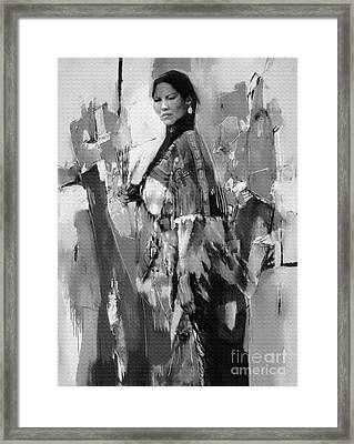 Native American Lady  Framed Print by Gull G