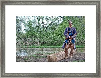 Native American Framed Print by Maria Dryfhout
