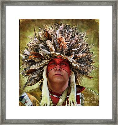 Native American Framed Print by Norma Warden