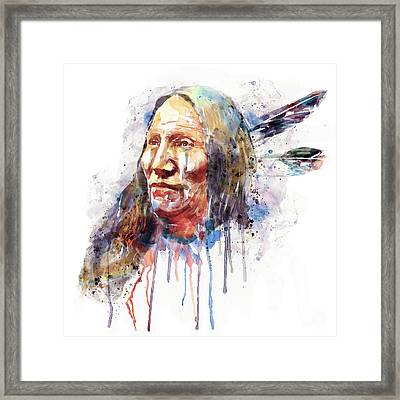 Native American Portrait Framed Print