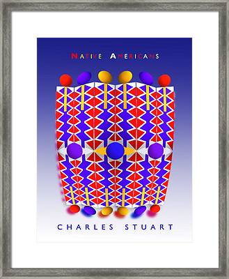 Native American Poster Framed Print by Charles Stuart