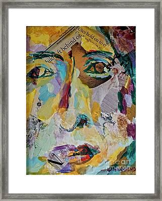 Native American Reflection Framed Print