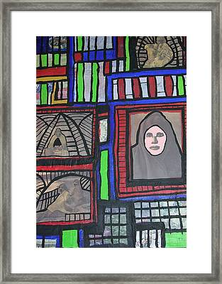 Native American Sences Framed Print by Russell Simmons