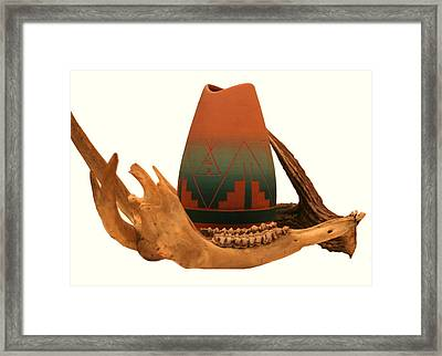 Native American Still Life Framed Print by Diane Merkle