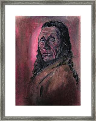 Native American Study Framed Print by Raymond Doward