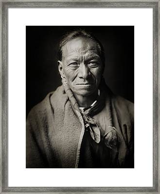 Native American Taos Indian White Clay Framed Print by Jennifer Rondinelli Reilly - Fine Art Photography