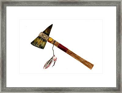 Native American Tomahawk Framed Print by Michael Vigliotti
