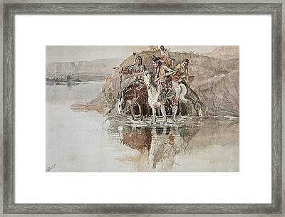 Native American War Party Framed Print by Charles Marion Russell