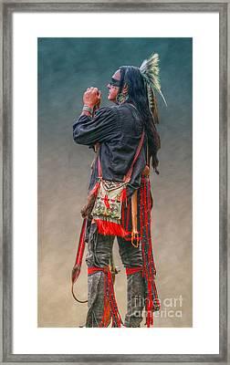 Native American Warrior Portrait  Framed Print