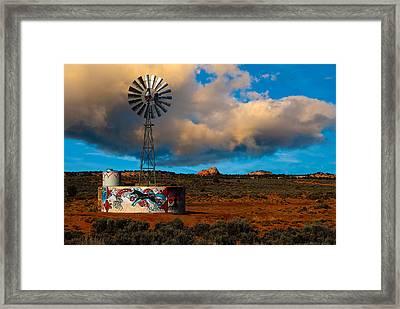 Native American Windmill Framed Print