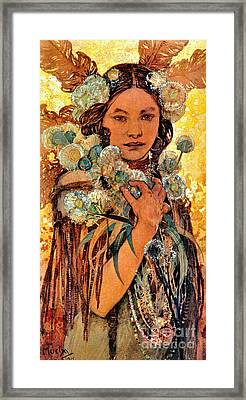 Native American Woman 1905 Framed Print by Padre Art