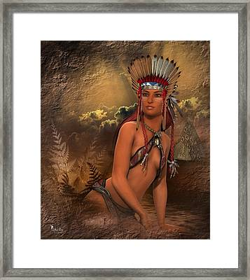 Native American Woman... Abedabun Framed Print