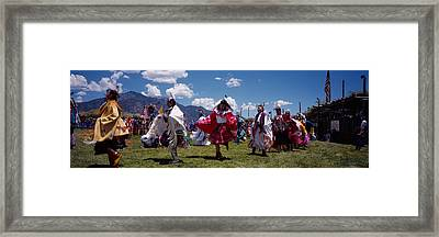 Native Americans Dancing, Taos, New Framed Print