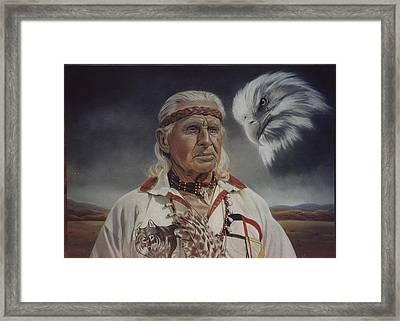 Native Americans Framed Print by Nanybel Salazar