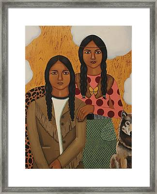 Native American's Were Never Immigrants Framed Print by Stephanie Cohen