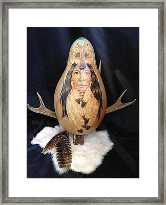 Native Framed Print by Barbara Prestridge