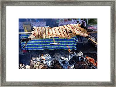 Framed Print featuring the photograph Native Barbecue In Taiwan by Yali Shi