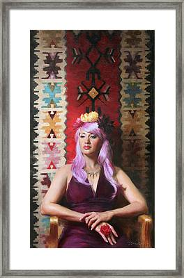 Native Daughter Modern Woman Framed Print by Anna Rose Bain