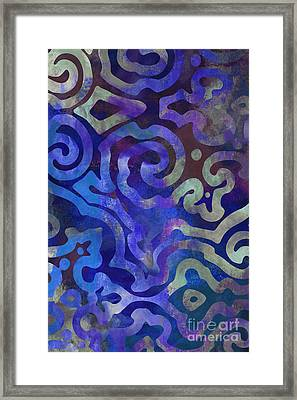 Native Elements Cobalt Blue Framed Print by Mindy Sommers