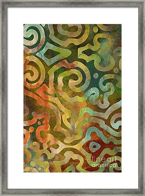 Native Elements Multicolor Framed Print by Mindy Sommers