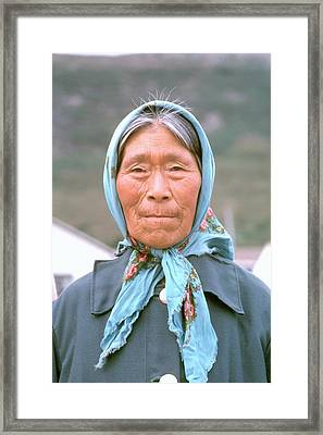 Native Face . Framed Print by Douglas Pike