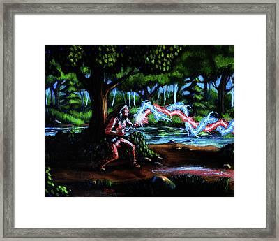 Native Ghostbuster Framed Print by Chris Bahn