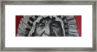 native Indian Framed Print
