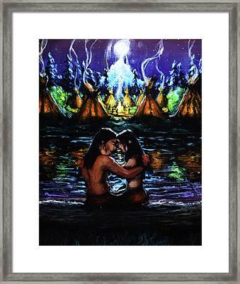 Native Love Framed Print by Chris Bahn