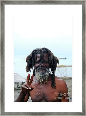 Framed Print featuring the photograph Native Man by Gary Wonning
