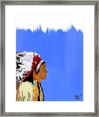 Native Framed Print by Nicholas Tullis