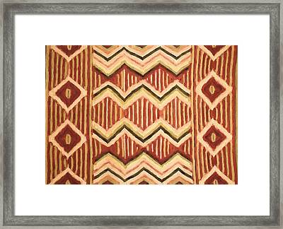 Native Pattern Framed Print by Dan Sproul