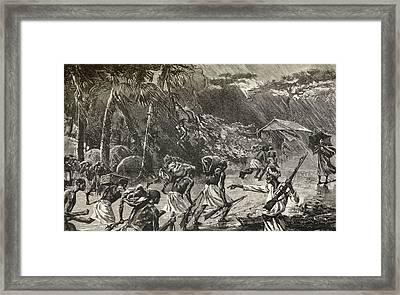 Native Porters In Sir Henry Morton Framed Print
