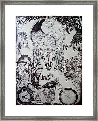 Native Ride Framed Print