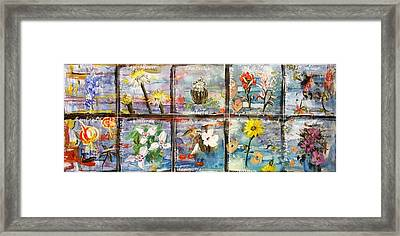 native Texas wildflowers A Framed Print by Michael Dillon