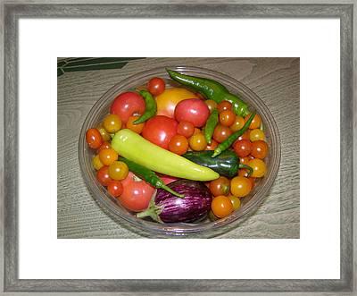 Native Veggies Framed Print by Richard Payer