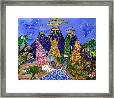 Nativi-tiki Framed Print