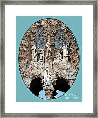 Framed Print featuring the photograph Nativity Barcelona by Victoria Harrington