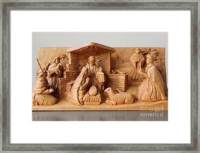 A Christmas Creche By George Wood Framed Print by Karen Adams