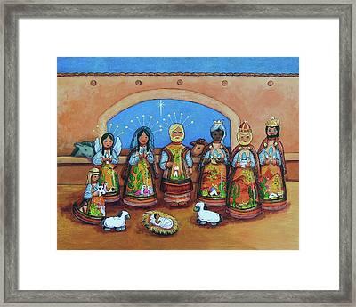 Nativity Framed Print by Candy Mayer