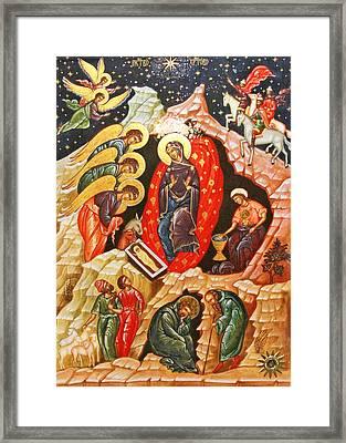 Nativity Icon Framed Print
