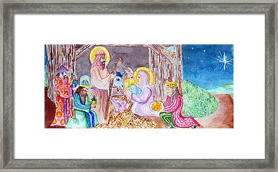 Nativity Framed Print by Jame Hayes