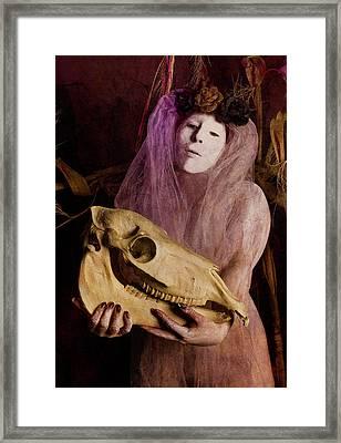 Nativity Framed Print by Joi Carey