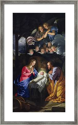 Nativity Framed Print by Philippe de Champaigne